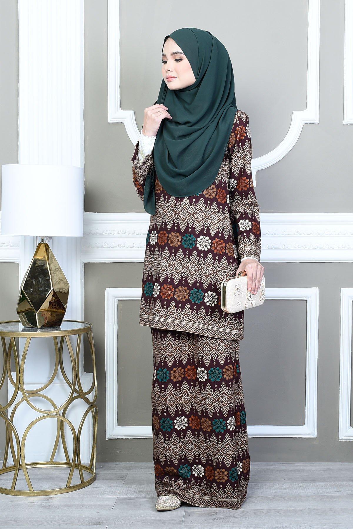 Baju Kurung Songket Khadijah Brown Songket