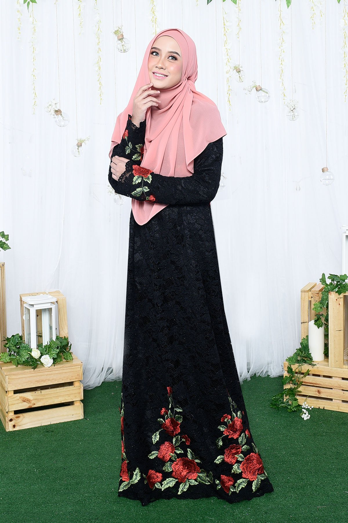 Dress Dior Lace - Black - MuslimahClothing.Com